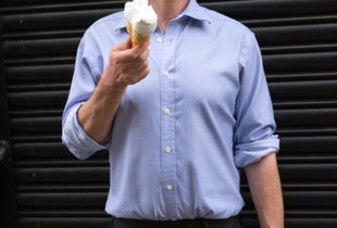 Contemplating ice cream