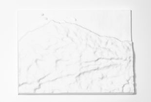 Meuse valley #3/15, 44.96-50.90°F, 3D polyamide print, 170x124x21,9mm