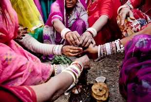 Prearranged wedding in a village in Rajasthan India #1