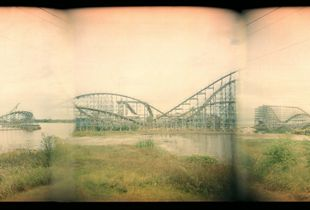 Six Flags New Orleans triptych ,  Chalmette, New Orleans, 2008, © Bryce Lankard