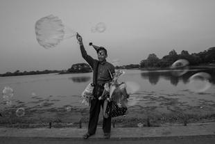 Inya Lake, Yangon, Myanmar.