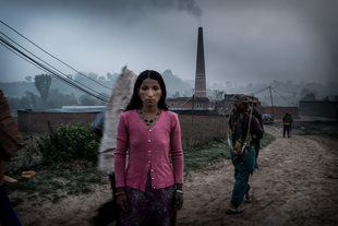 Portrait of a Woman. Brick Factory, Nepal,