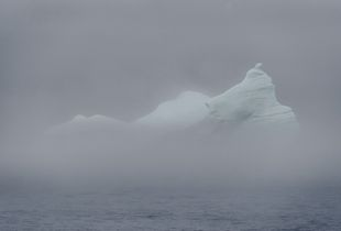 Iceberg in the fog