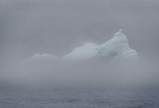 Iceberg in the fog