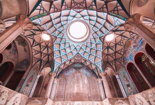 Roof of a part of Boroojerdi's house - Kashan - Iran