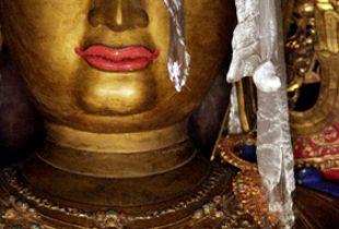 The present Buddha, Sakyamuni, Kumbum, Gyantse, Tibet, by Virginia Penny