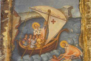 Saint Nickolas saves the shipwrecked