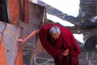 扎什伦布寺的老喇嘛