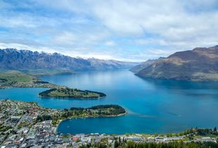 View of Queenstown from Bob's peak, New Zealand