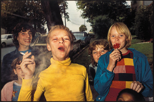 Boy in Yellow Shirt Smoking, 1977
