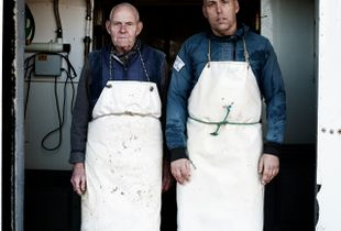 Men Of Kent: Derek & Graham West, Whelk Fishermen, Whitstable, Kent, UK.