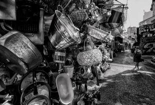 Woman in the flea market