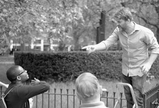 Dispute at Speaker's Corner, Hyde Park, London, UK