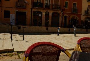 Spain. Tarragona. Plaza del Forum.