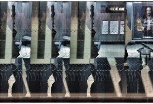 Abstract Subway platform