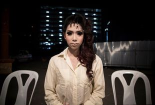 Katheoy - Thailand's Third Gender. Preparation for a beauty contest, Bangkok, Thailand.