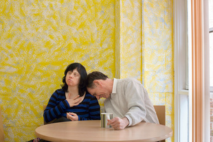 Caroline and David, Holmewood Community Centre, Chesterfield, Derbyshire. Caroline and David have been together, on and off, for 12 years. David gets frustrated with Caroline as he likes to walk but she's not as keen.