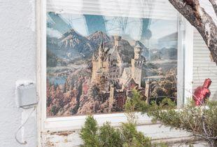 Neuschwanstein Castle. Soap Lake, WA, USA.  2016