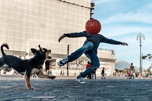 Ballhead. © Jacek Konieczny. Chosen for the LensCulture Street Photography Awards Top 100.