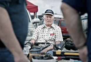 "Andy, N2WU. ""Hamcation,"" Orlando, FL. Amateur Radio is a greying hobby. Many Hams began as wartime radio operators."