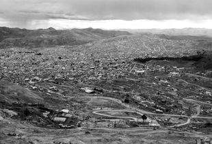 View of Potosí from Cerro Rico