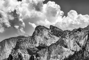 Clouds over Cathedral Rocks. Yosemite National Park, CA, USA. © Joseph S Giacalone