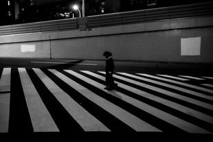 Pedestrian crossing in central Tokyo