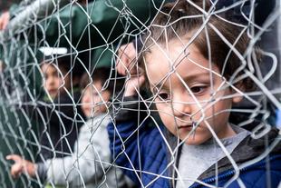 Migrants camp Idomeni