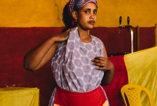 Waitress in Afar