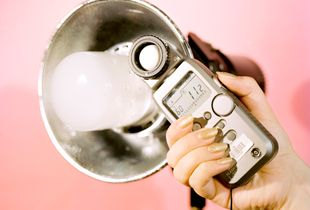 Profoto Head With Lightmeter and Sparkle Nails