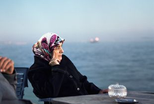 Women looking at the see, Marmara see, Istanbul