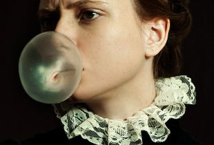 Portrait with Bubble Gum