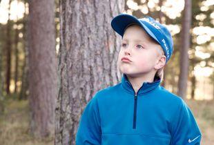 Little golfer.