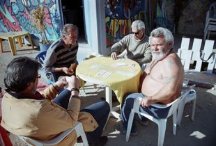 Playing Cards under the hot sun