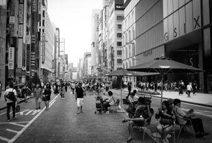 Tokyo Ginza on Sunday