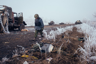 Battle for Debaltseve, East Ukraine, February 2015.