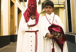 Young pilgrims at the Semana Santa, Andalusia