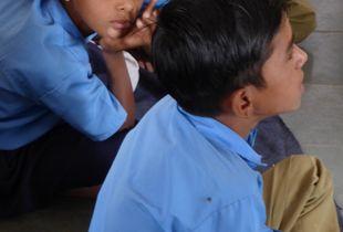 Instant d'une écolière