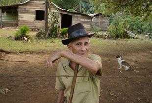 Farmer Luis Castillo in Cuba's Sierra Maestra mountains.