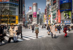 An ordinary Japanese student on Shibuya square