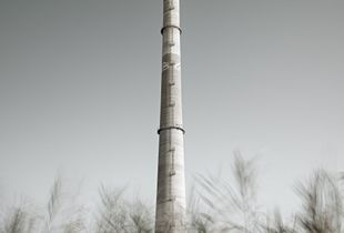 Liquichimica Biosintesi – The massive smoke tower.