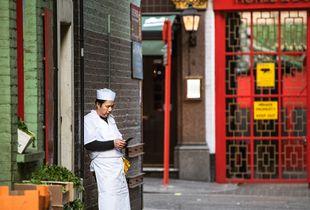 Chinese Chefs Smoking