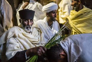 Benediction, Debre Birhan Selassie church, Gondar, Ethiopia