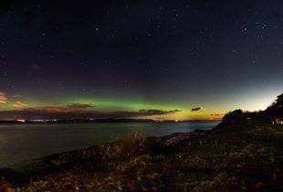 Panoramic Aurora on the Saint-Laurent