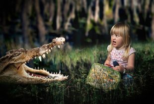 Esther and the crocodile