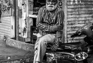 Old man in the corner