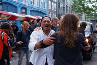 A Street Party in Amsterdam During Summertime