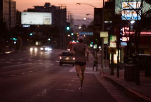 Runner on Sunset Blvd
