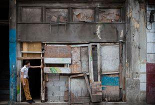 Schoolboy in Doorway, Havana, Cuba, 2011