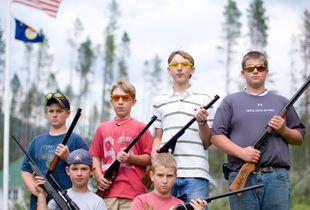 Boys With Guns. Western Montana.